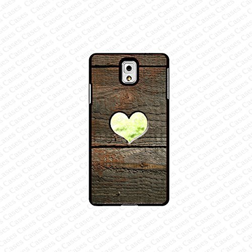 krezy case Galaxy Note 4 case- brown wood with heart (not a real wood) samsung Galaxy Note 4 case- Cute Note Case...
