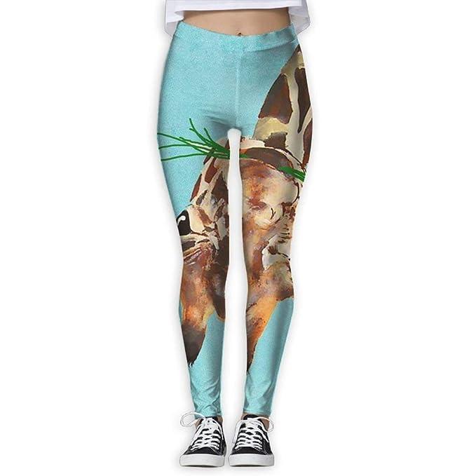 ANTOUZHE Pantalones de Yoga Yoga Pants Glass Giraffe Women ...