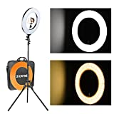 ZOMEi 12'' LED Ring Light Dimmable for Video Youtube Portrait and Photography Lighting with Heavy Duty Light Stand