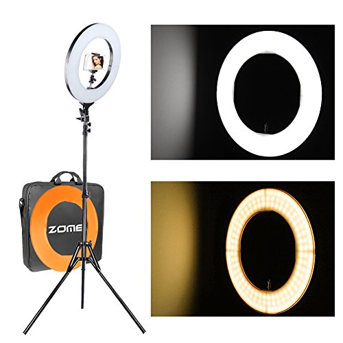 ZOMEi 12'' LED Ring Light Dimmable for Video Youtube Portrait and Photography Lighting with Heavy Duty Light Stand by ZOMEI