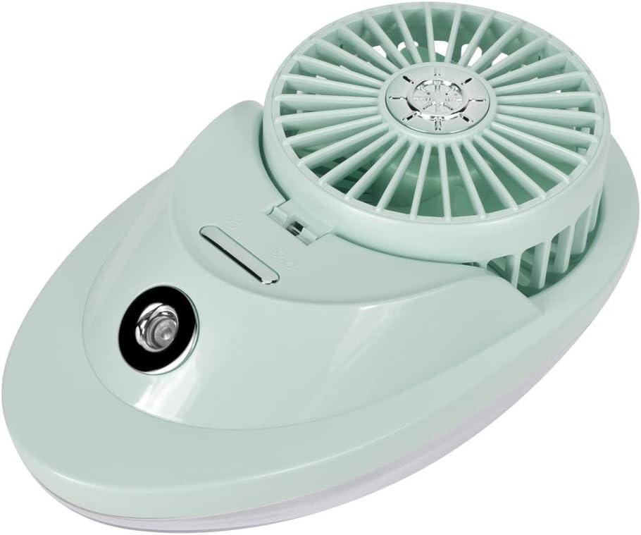 Robusto Ventilatore da scrivania Portatile, Ventilatore da Tavolo, Durevole e Pratico Campeggio da Viaggio a casa per Ufficio(Pink) green