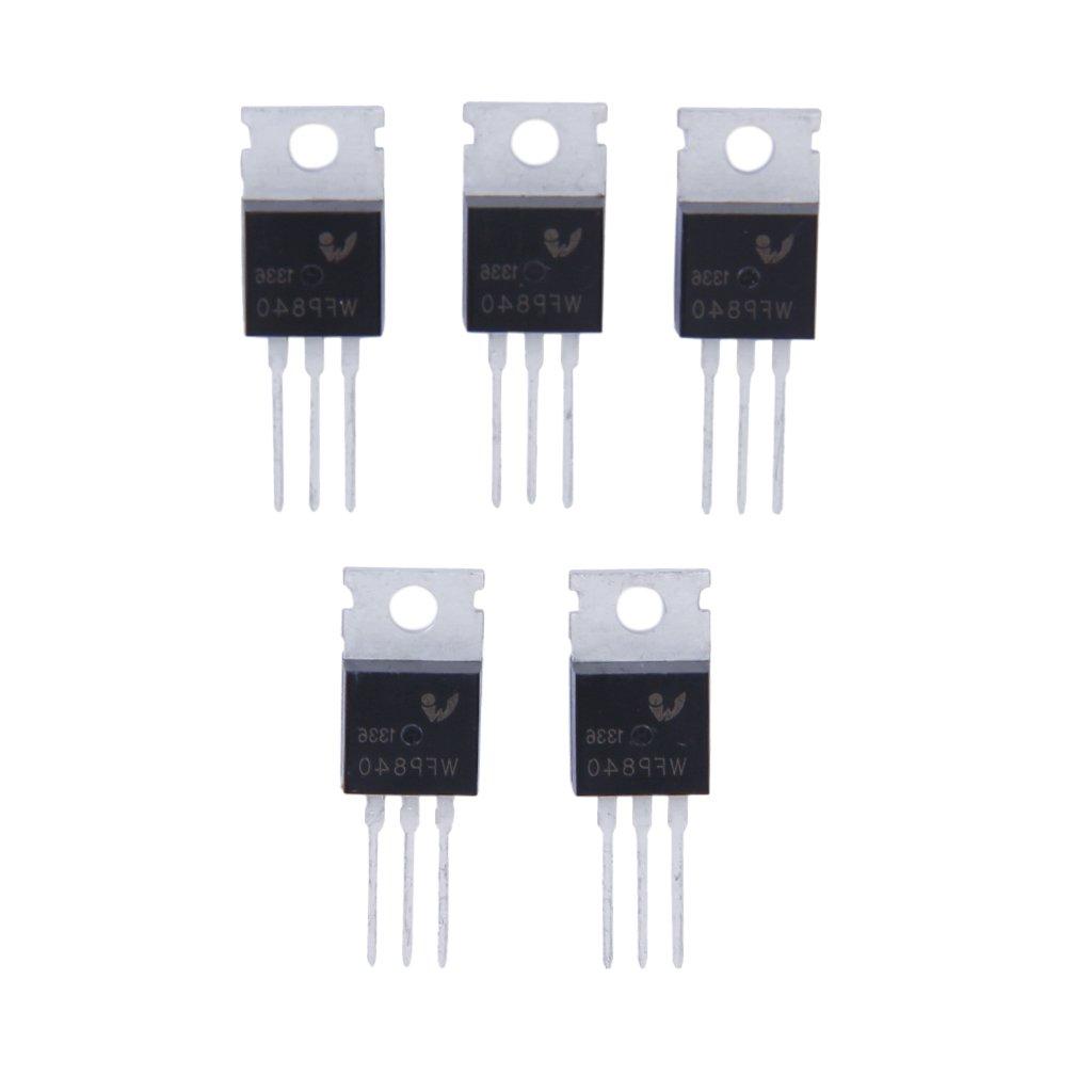 5pz N-channel MOSFET Di Alimentazione IRF840 Pacchetto 500v 8a A-220 Generic