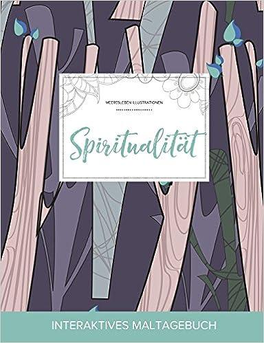 Maltagebuch für Erwachsene: Spiritualität (Meeresleben Illustrationen, Abstrakte Bäumen)