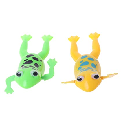 Amazon com: Forgun New Wind up Swimming Cute Frog Toy
