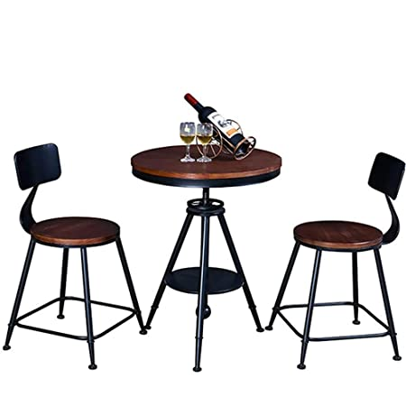 NeoMcc Juegos de Mesa Habitación Mesa de negociación con 2 sillas ...