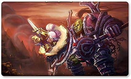 Warcraft93 – Juego de mesa de Warcraft tapete de mesa Wow juegos teclado Pad Tamaño 60 x 35 cm World of Warcraft Mousepad para Yugioh Pokemon MTG o TCG: Amazon.es: Oficina y papelería