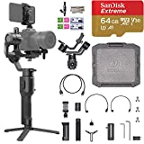 2019 DJI Ronin-SC 3-Axis Gimbal Stabilizer for Mirrorless Cameras, Comes 64GB Micro SD, Tripod, Phone Holder, Carrying Case and Cleaning Kit, Up to 4.4lb Payload, 1 Year Limited Warranty