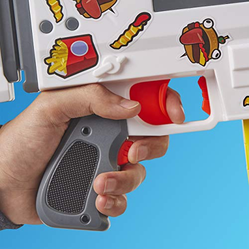 51XqcP8h9mL - NERF Fortnite AR-Durrr Burger Motorized Blaster -- Customizing Stickers, 20 Darts, 10-Dart Clip -- for Youth, Teens, Adults (Amazon Exclusive)