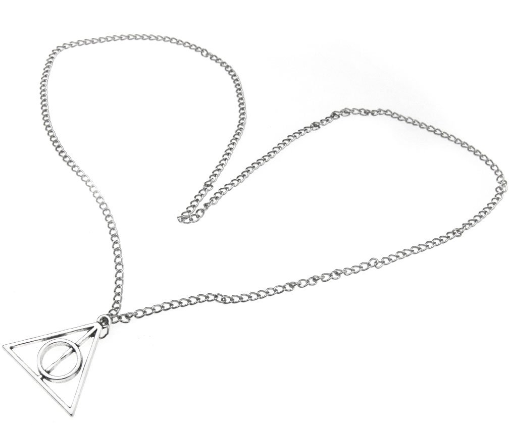 Harry Potter Theme Necklace Silver Colour The Deathly Hallows Pendant Micro Trader 4336835208