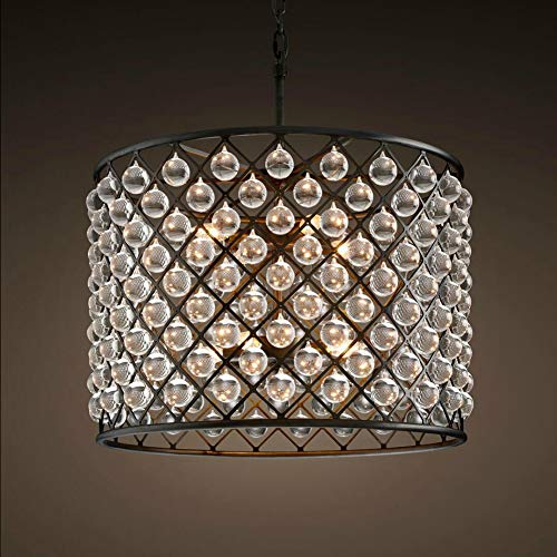 Round Twelve Light Chandelier - JIAYE Glass Drum Chandelier 12 Lights Crystal Glass Chandelier Round Crystal Chandelier Pendant Lighting Fixture Crystal Chandelier Lighting Pendant Light Black (CZ2521/12)