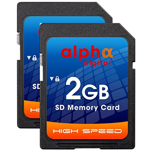 Nikon D50 D40 D40X D3300 Digital Camera Memory Card 2x 2GB Secure Digital (SD) Memory Card (1 Twin Pack) by Alpha Digital