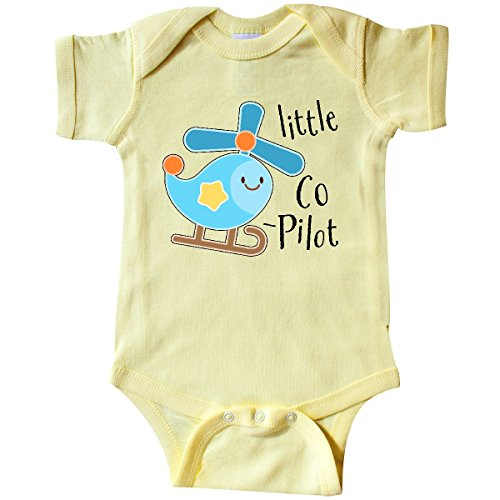 inktastic - Little Co-Pilot- Cute Infant Creeper 6 Months Banana Yellow 314c3 (Onesie Helicopter)