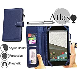 "Navitech Blue Book Style Case / Cover For The The Fire Tablet with Alexa, 7"" Display, 8 GB, Black, Blue, Magenta, Tangerine"