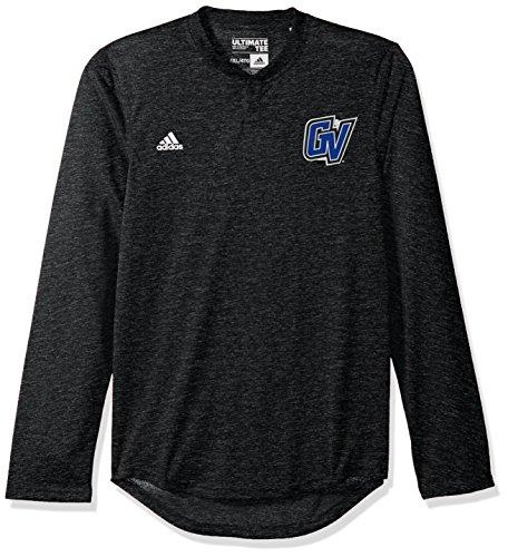 (adidas NCAA Northern Illinois Huskies Adult Men Logo L/S Henley Tee,2X-Large,black)