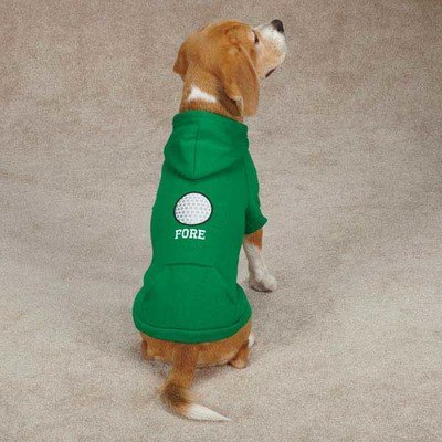 Casual Canine Polyester/Cotton Sports Hound Dog Hoodie, X-Small, Golf