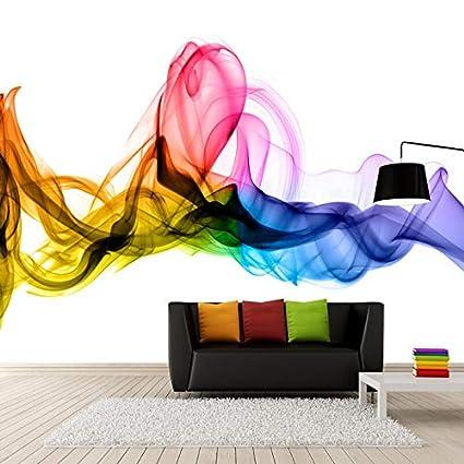 Amazon.com: Astratta moderna di Arte di Fumo di Colore Foto ...