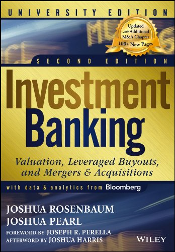 Download Investment Banking: Valuation, Leveraged Buyouts, and Mergers and Acquisitions (Wiley Finance) Pdf