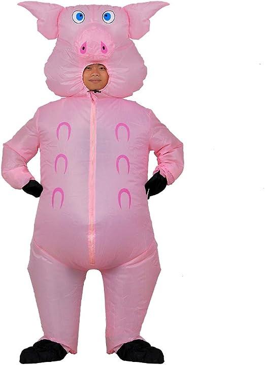 Disfraz mono de unicornio Rosa Disfraces para Adultos unisex Fiesta Temática
