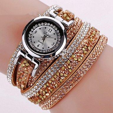 Amazon.com: Fashion Watches Relojes Mujer 2016 Fashion Women Watches Bracelet Leather Watch Strap Weaving Dress Digital Watch Clock Wrist Watches Relogio ...