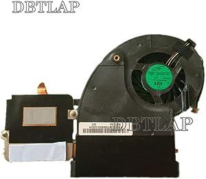 DBTLAP Laptop CPU Cooling Fan with Heatsink Compatible for Toshiba Qosmio X500 X505 X505-Q870 X505-Q880 X505-Q887 X505-Q888 ADDA AB9005HX-DD3 DC 5V 0.50A