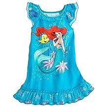 DISNEY LITTLE MERMAID Ariel, Flounder Turquoise Blue Nightgown
