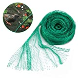 GROWNEER 33x13 Ft Anti Bird Net, Green Garden Plant Protection Netting, Garden Plant Fruits Fencing Mesh, Protect Fruits from Rodents Birds