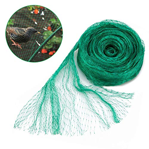 - GROWNEER 33x13 Ft Anti Bird Net, Green Garden Plant Protection Netting, Garden Plant Fruits Net Mesh, Protect Fruits from Rodents Birds
