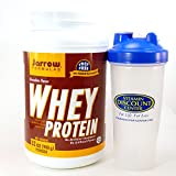 Bundle - 2 Items: 1 Tub of Whey Protein Chocolate By Jarrow - 2 Pounds and 1 VDC Shaker Cup