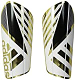 adidas Performance Ghost Pro Shin Guard, Medium, White/Black/Iron Metallic