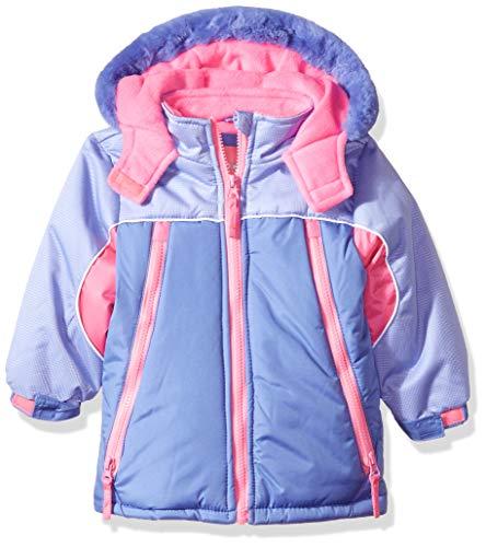 Wippette Girls' Little Colorblock SKI Jacket, Purple 4