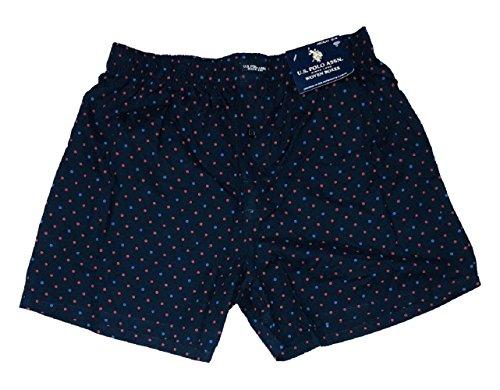 U.S. Polo Assn. Men's Woven Boxer (Classic Navy Polka Dots, XL) (Polka Dots Boxers)