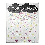 Designs Direct ''Love Always'' Cloud Throw Blanket | Measures 50'' W x 60'' L