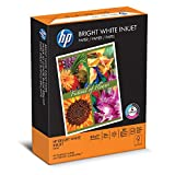 HP Bright White Inkjet Paper, Letter Size 8.5 x 11-Inch, 500 Sheets/Ream (HEW203000), Made in the USA