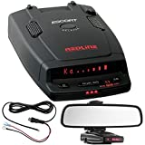 Escort RedLine Ultimate Performance Dual-Antenna Radar Detector Power Bundle Includes, Car Mirror Mount Bracket For Radar Detectors + Radar Detector Direct Wire Power Cord