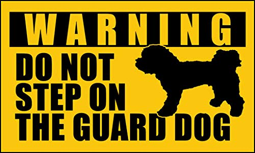 (Poodle Do Not Step On The Guard Dog Sticker (Funny Small Toy Dog))