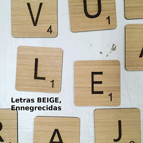 Letras tipo juego Scrabble personalizadas de madera para decoración pared o habitación infantil: Amazon.es: Handmade