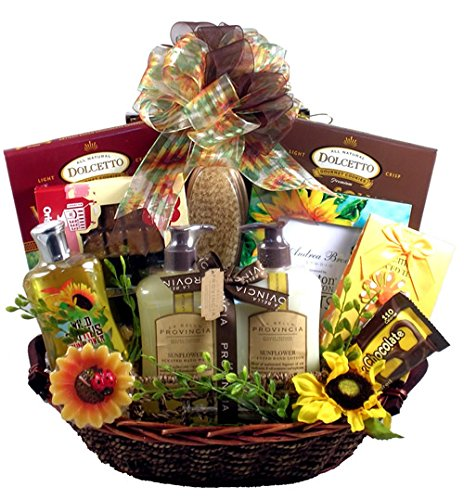 Gift Basket Village Garden of Delights, Bath and Body Gift Basket for Women