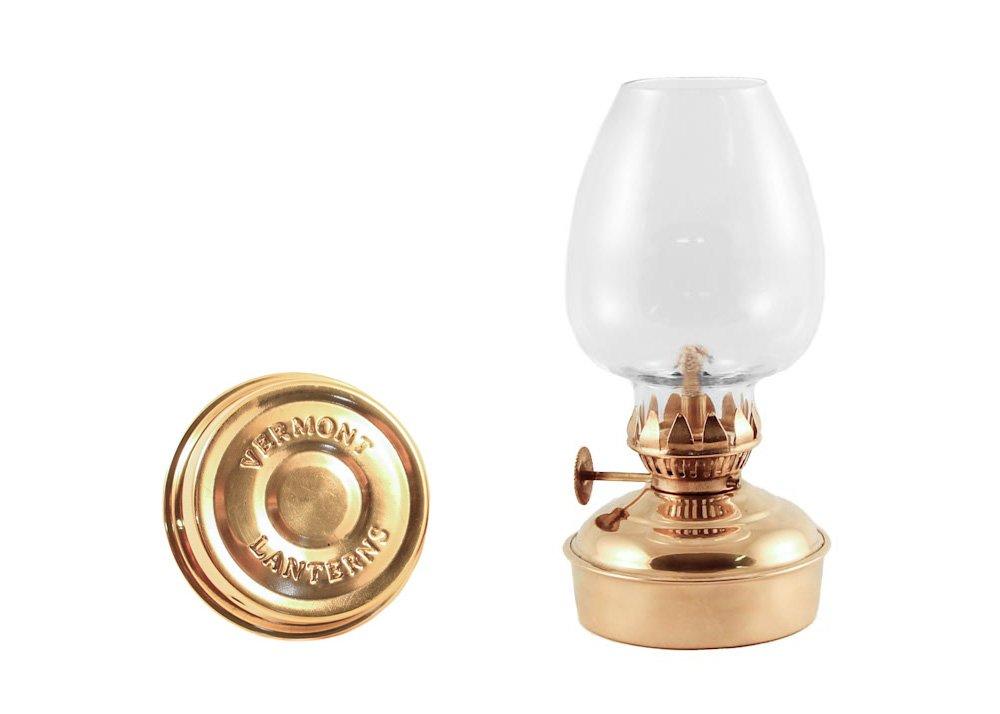 Vermont Lanterns Brass Mini Oil Lamp 5.75'' (Brass)