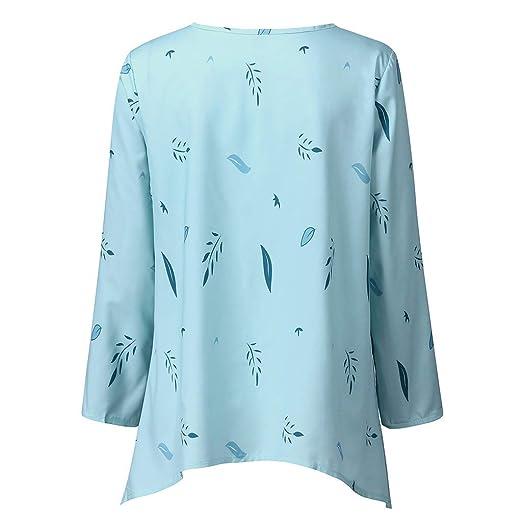 Amazon.com: Camisetas para mujer, informal, cuello redondo ...