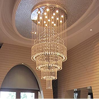 Moooni large modern luxury crystal chandelier lighting for living room porch hallway d 31 5 x