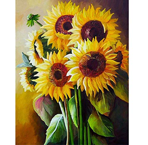 - Paint by Numbers Kits DIY Oil Painting by Numbers Sunflowers DIY Canvas Painting by Numbers Acrylic Painting Kits for Adults Kids Beginners Arts Craft for Home Wall Decoration (Sunflowers)