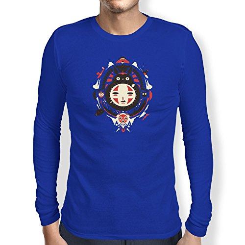 TEXLAB - Neighbors Mask - Herren Langarm T-Shirt, Größe XXL, marine