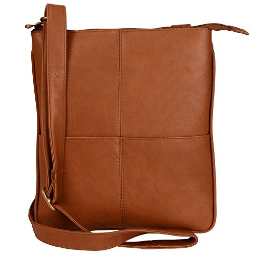 Price comparison product image Andrew Philips Vaqueta Napa Leather Crossover e-Reader Tablet Bag in Tan