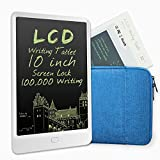 COMBO-JEFF LCD Writing Tablet,10-inch Screen Lock Electronic Writing Board, Portable Handwriting Notepad for Kids and Adults at Home, School and Work Office (white-blue)