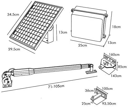 DC HOUSE Abridor de puerta de oscilación eléctrico simple Kit de apertura de puerta automático de alta potencia con energía solar (300 kg) Control remoto Panel solar de 24 V: Amazon.es: Bricolaje