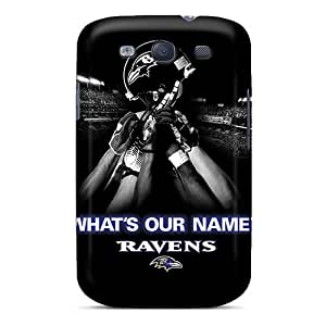 Galaxy Cover Case - Baltimore Ravens Protective Case Compatibel With Galaxy S3