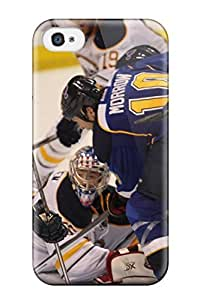Durable Protector Case Cover With St-louis-blues Hockey Nhl Louis Blues (4) Hot Design For Iphone 4/4s