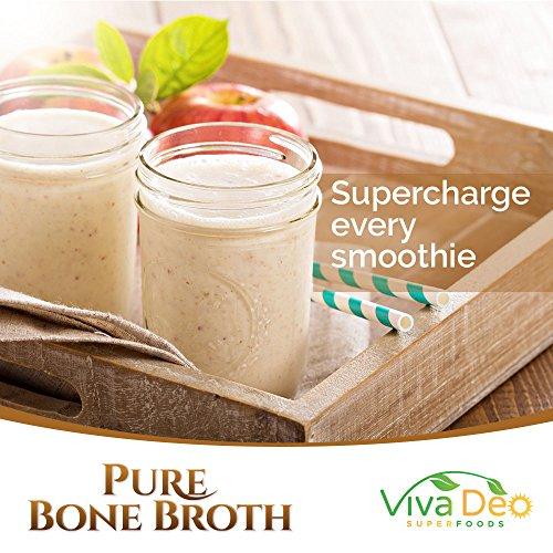 Grass Fed Bone Broth Protein Powder | Antibiotic & Hormone Free | Tasteless Keto Diet Paleo Protein Powder w/Naturally Occurring Collagen Glucosamine & 19 Amino Acids - 20 Grams Protein (Unflavored)