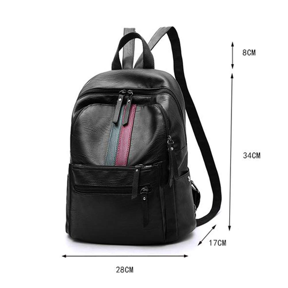 Wild Red and Green Stripes 281734cm ZHML Backpack Leisure Bag Travel Bag Crossbody Bag Womens Fashion Large-Capacity Travel and Leisure Student Bag / Red and Gray Stripes