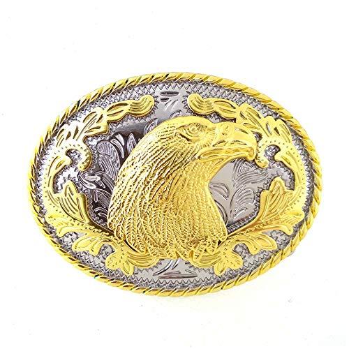Western cowboy belt buckle for belt accessories Custom buckle (Golden Eagle Head)